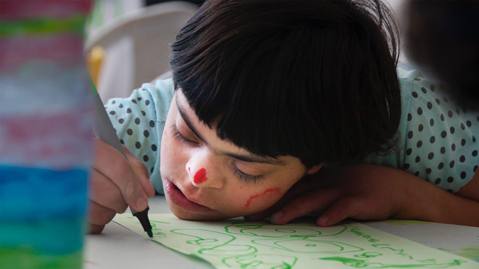 niña pintado
