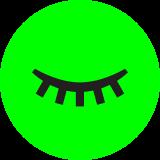 icono de ojo cerrado